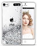 wlooo Handyhülle iPod Touch 6 Glitzer Hülle, iPod Touch 5 Hülle Flüssig Bewegende Treibsand Fließend Flüssigkeit Glitter Quicksand Transparent Silikon Weich TPU Bumper Luxury Original Schutzhülle Case