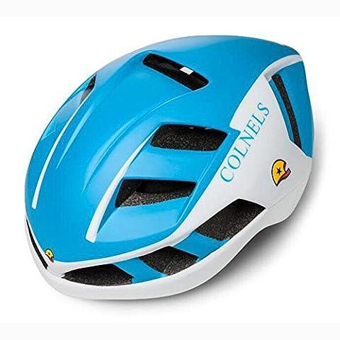 Lei HuanLeBao Bunte neue Fahrradhelm Professionelle Qualität Sonnenschutz Sicherheitshelme Fahrradzubehör , white blue