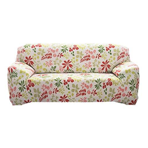 Preisvergleich Produktbild Elastisch Stretch Sofabezüge Für Einzel / 3-Sitzer Couch - Hawaii rot und grün ,  190-230cm