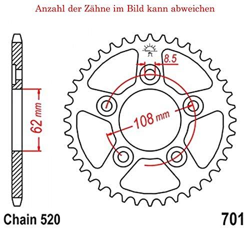 Preisvergleich Produktbild jtSprockets Kettenrad Tuareg 125 Wind 1988-1990 39 Zähne JTR701-39