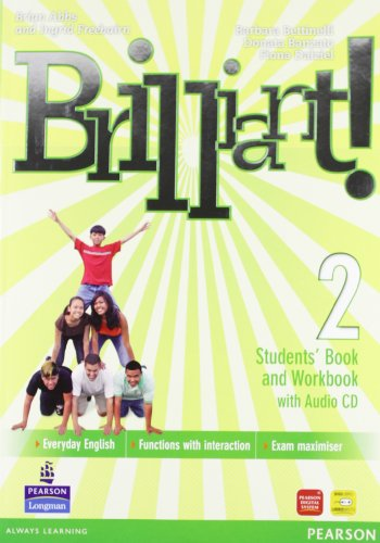 Brilliant! Student's book-Workbook-Culture book. Ediz. leggera. Per la Scuola media. Con CD Audio. Con DVD-ROM. Con espansione online: 2