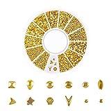 Reasoncool Ocean Nail Art Ohrstecker Gold Charms Sommer Sea Metal Alloy Nieten Muschel Seestern Nail Art Dekoration