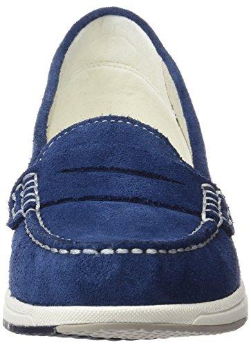 Geox D Avery C, Mocassins Femme Bleu (Denimc4008)