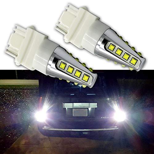 Preisvergleich Produktbild Ruiandsion LED-Blinkerbirnen 3157 Weiß DC 12-24V CREE 16SMD LED-Chip-Glühlampen-Ersatz für Auto-Bremslicht-Rückfahrlampe DRL-Standlicht (2er Pack)