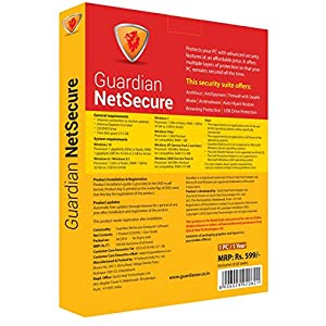 Guardian NetSecure 1 User 1 Year (Email Delivery in 2 hours- No CD) (Activation Key Card)