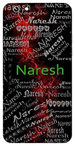 Naresh (Lord Of Men) Name & Sign Printed All over customize & Personalized!! Protective back cover for your Smart Phone : Oppo A-59