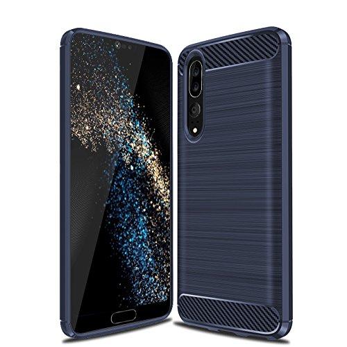 Coque Huawei P20 Pro, iBetter [Shock Absorption] Ultra Doux anti-dérapante silicone TPU coque en protectrice avec Fibre de Carbone, Etui Housse Coque de Protection pour Huawei P20 Pro Smartphone