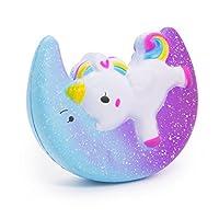 SPECOOLEstrella Luna Unicornio Squishies, Alas Unicornio Kawaii Cream Perfumado Squishy Charms para Adultos y Niños (Star Moon Unicorn) de SPECOOL