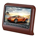 CAPTIANKN Car DVD-Display, 10,1 Zoll Hanging Entertainment Video Car Headrest DVD Display,Brown