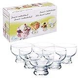 Set of 6 Short Stemmed Glass Dessert Sundae Icecream Cocktail Bowl