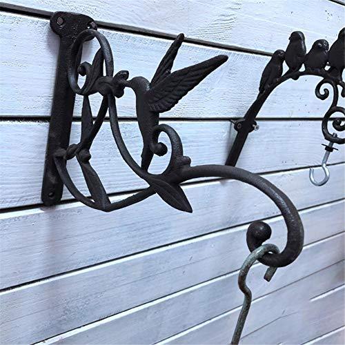[Blumenhaken Metall Wandhaken ] Regalwinkel Blumenampel Haken Halterung Laternenhaken Orientalisch Wandhalterung für Hanging Basket Landhaus Garten/26.5cmx 4.5cmx 18cm