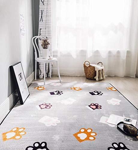 DONGART Haushalts rutschfeste gepolsterte Wohnzimmer fußmatten Schlafzimmer kriechmatte Cartoon Spiel Decke Hause Matte Silber 190 cm * 195 cm -