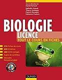 Biologie (Licence) : Tout le cours en fiches, QCM et bonus web (French Edition)