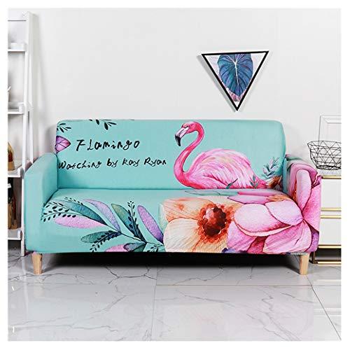 Sticker Superb Copridivano 3D Design Animal Flamingo Unicorn Rosa Verde Coniglio Floreale Foglia, Poliestere Elastico, Scratchproof Dog Cat Feather Fodere Copridivano