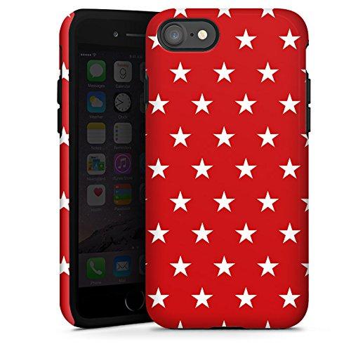 Apple iPhone X Silikon Hülle Case Schutzhülle Muster Sternchen Polka Tough Case glänzend