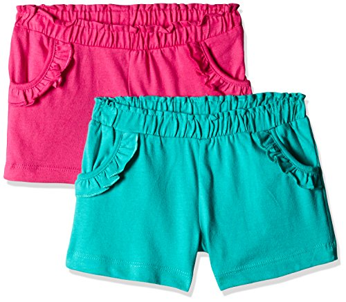 Mothercare Baby Girls' Shorts (Pack of 2)(H9307_Brigm_12-18 M)