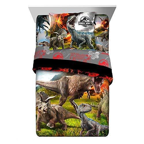 Franco Universal Jurassic World 2'Eruption' 2pc Kinder Betten Twin/Full Tröster mit Kissenbezug (Twin-bett Kind)