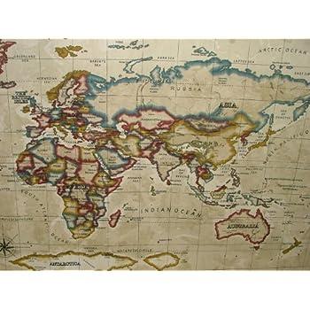 Prestigious atlas world map antique designer curtain upholstery prestigious atlas world map antique designer curtain upholstery fabric by gumiabroncs Gallery