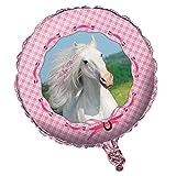Folienballon * WEISSES PFERD * als Dekoration für Kindergeburtstag oder Motto-Party // Kinder Pony Horse Foil Ballon Helium Deko