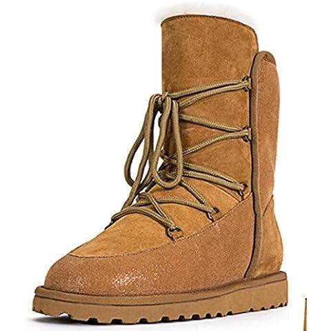 merletto delle donne stivali neve caviglia caldi lungo tubo più