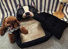 JIAOXM Cama para Perros de Dibujos Animados, Cama para Mascotas Acolchada Super Suave, Universal
