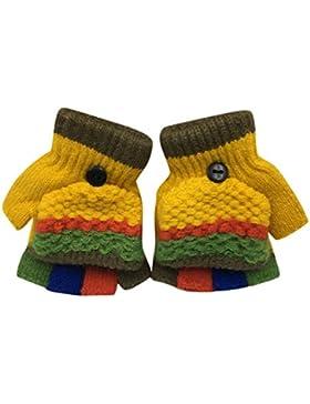 Fuibo Baby Fäustling, Kleinkind Baby niedlich verdicken Patchwork heißen Mädchen Jungen Winter warme Handschuhe