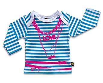 Rockabye-Unisex Baby Beads Long Sleeve T-Shirt Blue/White 6-9 Months