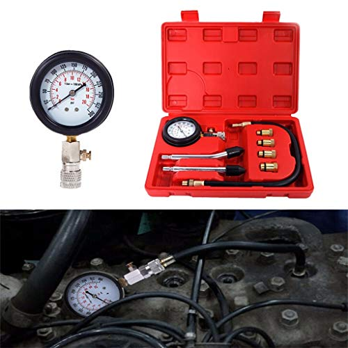 TianranRT★ Zylindertester - Benzin-Benzinmotor Zylinder-Kompressionstester Automotive Kit Diagnostic, Motor-Rot-Zylinder-Kompression -
