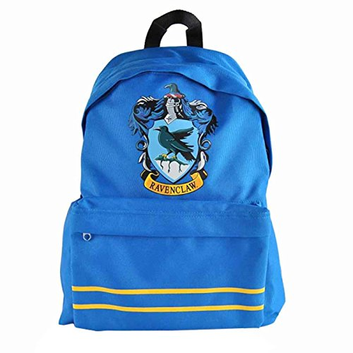 Harry Potter Ravenclaw Crest oficial, diseño azul lienzo Mochila un tamaño