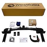 Westfalia Abnehmbare Anhängerkupplung für Zafira Tourer (ab BJ 01/2012) im Set mit 13-poligem fahrzeugspezifischen Elektrosatz