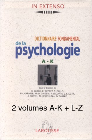 Coffret 2 volumes : dictionnaire fondamental de la psychologie
