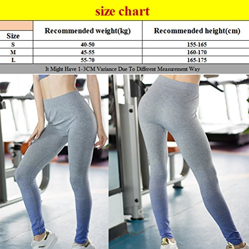 Zhhlaixing Comfortable Women's Sports Gradient color Pants Stretch Tight Yoga Pants Rose Red