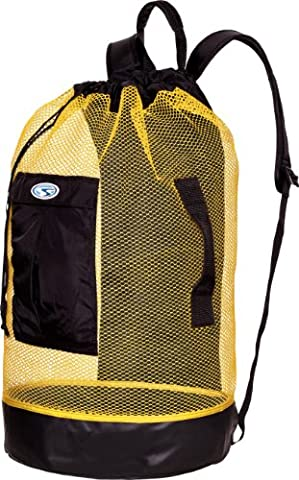 Stahl Sac Panama Mesh Backpack Bag - Yellow