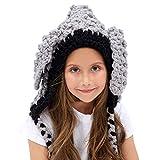 Inverno Bambino Cappelli maglia sciarpa animale Cappelli neonate scialli Cappello autunno e inverno sciarpa a maglia protezione del bambino con un cappello per il ragazzi delle ragazze (typ 2)