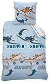 CTI Impulse Bettwäsche bedruckt Kinder dinaey Planes Polycotton, Polyester Baumwolle, Blau, 200x 140cm