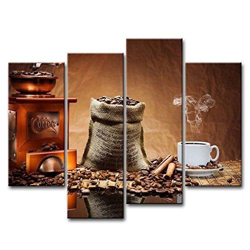 Kunst Bild Kaffee Tasse Teller Bilder Prints auf Leinwand Lebensmittel die Decor Öl für Home Moderne Dekoration Print (Halloween-ernte-tops)