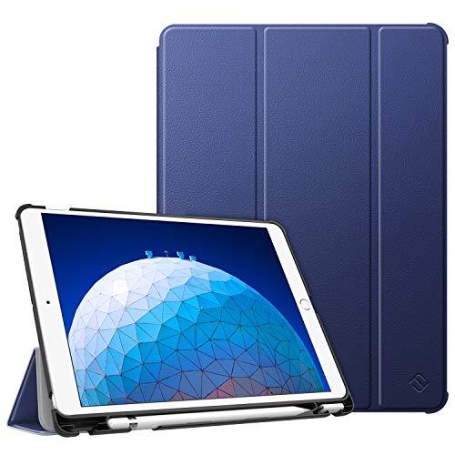 """Fintie Funda para iPad Air 10.5"""" (3.ª Gen) 2019 / iPad Pro 10.5"""" 2017 con Soporte Incorporado para Pencil - Súper Ligera Carcasa Protectora con Función de Auto-Reposo/Activación, Azul Oscuro"""