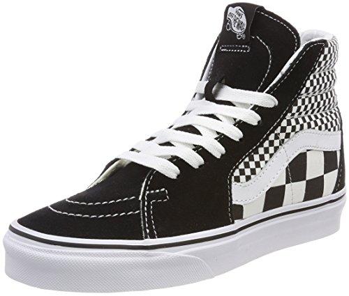 Vans Unisex-Erwachsene Sk8-Hi Hohe Sneaker, Schwarz (Mix Checker), 37 EU (Leder-sohle-lace Up Schuh)