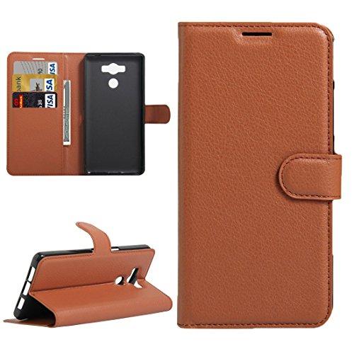jbTec® Flip Case Handy-Hülle Book #M30 zu Elephone P9000 - Handy-Tasche Schutz-Hülle Cover Handyhülle Bookstyle Booklet, Farbe:Braun