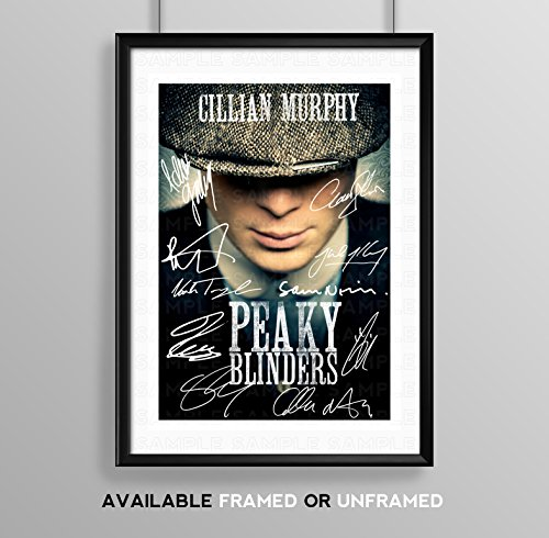 Peaky Blinders Cast Signed Autograph Signature Autographed A4 Poster Photo Print Photograph Artwork Wall Art Picture TV Show Series Season DVD Boxset Memorabilia Gift (POSTER ONLY)
