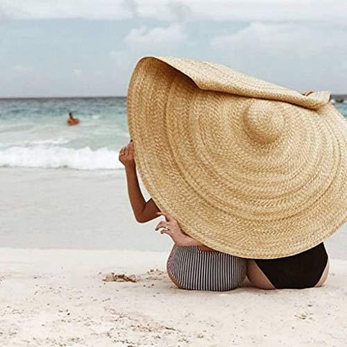 r, LeeMon Übergroß Strandhut Faltbar Hut Mode Urlaub Reisen Reisehut Sonnencreme Schal Sonnenschirm (Khaki) ()