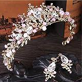 Diadema de corona de cristal hecha a mano, boda, novia, dama de honor, baile, belleza, reina para el pelo, accesorio para el pelo de boda real