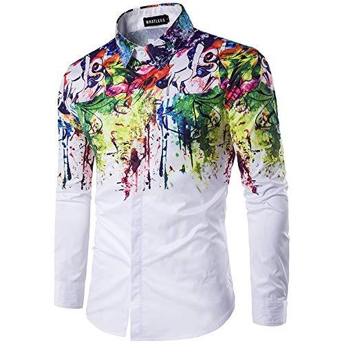 Zhanghanzong-Belt Männer Casual Button-Down-Shirts Langarm-Shirt der Männer beiläufige abstrakte Blumen-Sprühfarbe Premium Pet Reisetasche für Hund & Katze (Größe : - Sprühfarbe Hunde Kostüm