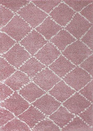 Art For Kids 120 x 170 cm 100 por ciento polipropileno Oeko-Tex 100 'Nomad' alfombra de pelo, Rosa
