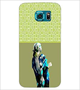 PrintDhaba Couple D-3215 Back Case Cover for SAMSUNG GALAXY S6 (Multi-Coloured)