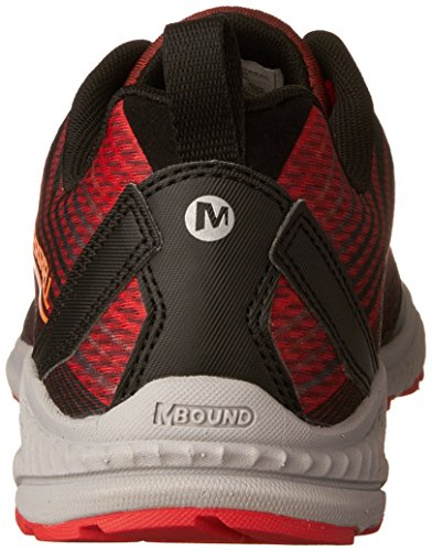 Merrell Crusher, Scarpe da Trail Running Uomo, Grey Rosso (Fired Red)