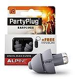 Alpine PartyPlug Oordoppen voor feesten, muziek, festivals, disco en concerten - Voorkomt gehoorschade - Hoge muziekkwaliteit + sleutelhanger - Hypoallergeen materiaal - Herbruikbaar - Zilver