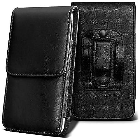 Orange San Diego Holster Case - ( Black ) Universal Vertical Pouch Flip Belt Clip PU Leather Wallet Case Bag ( San Diego naranja Funda Case - ( negra ) Universal funda Vertical Flip Clip de cinturón de cuero pu Bolsa funda monedero )