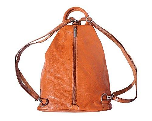 Florence Leather 207, Borsa a zainetto donna Black, Bordeaux & Tan (multicolore) - 207 Tan