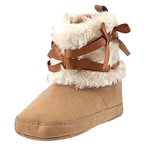Highdas Bébés Filles Bowknot Douce Lit Chaussures Enfant Infant Fleece